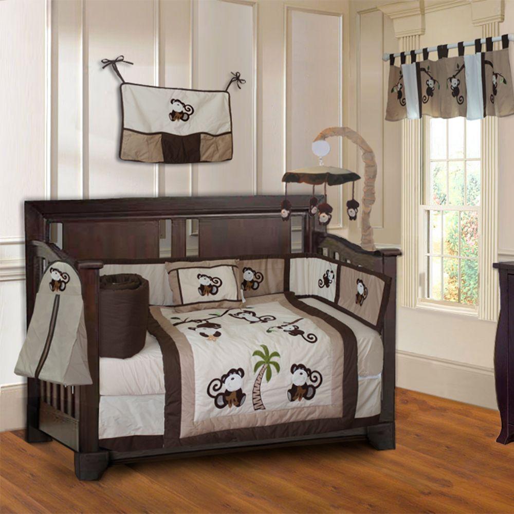 BabyFad 10-piece Boys' Baby Crib Bedding Set with Musical ...