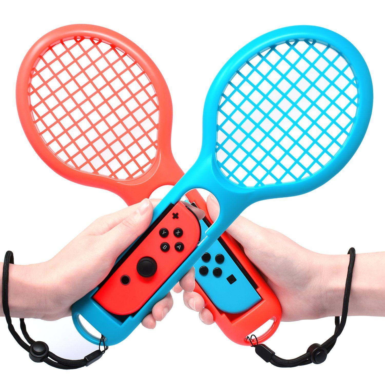 Tennis Racket For Nintendo Switch Joy Con Controllers Twin Pack Tennis Racket For Mario Tennis Tennis Racket Nintendo Switch Games Nintendo Switch Accessories