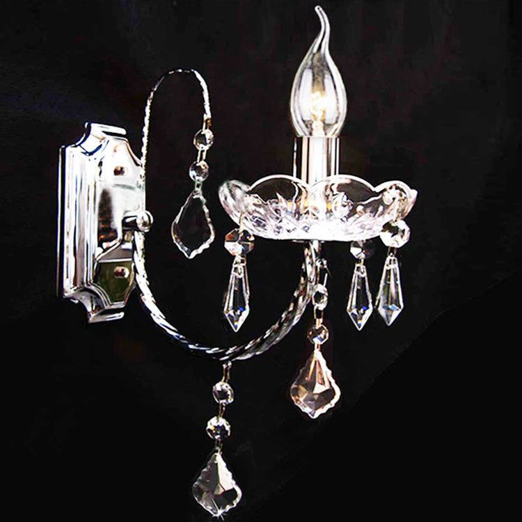 Candle Light Fixture: Modern Candle Light Crystal Porch Wall Sconce Lamp Fixture