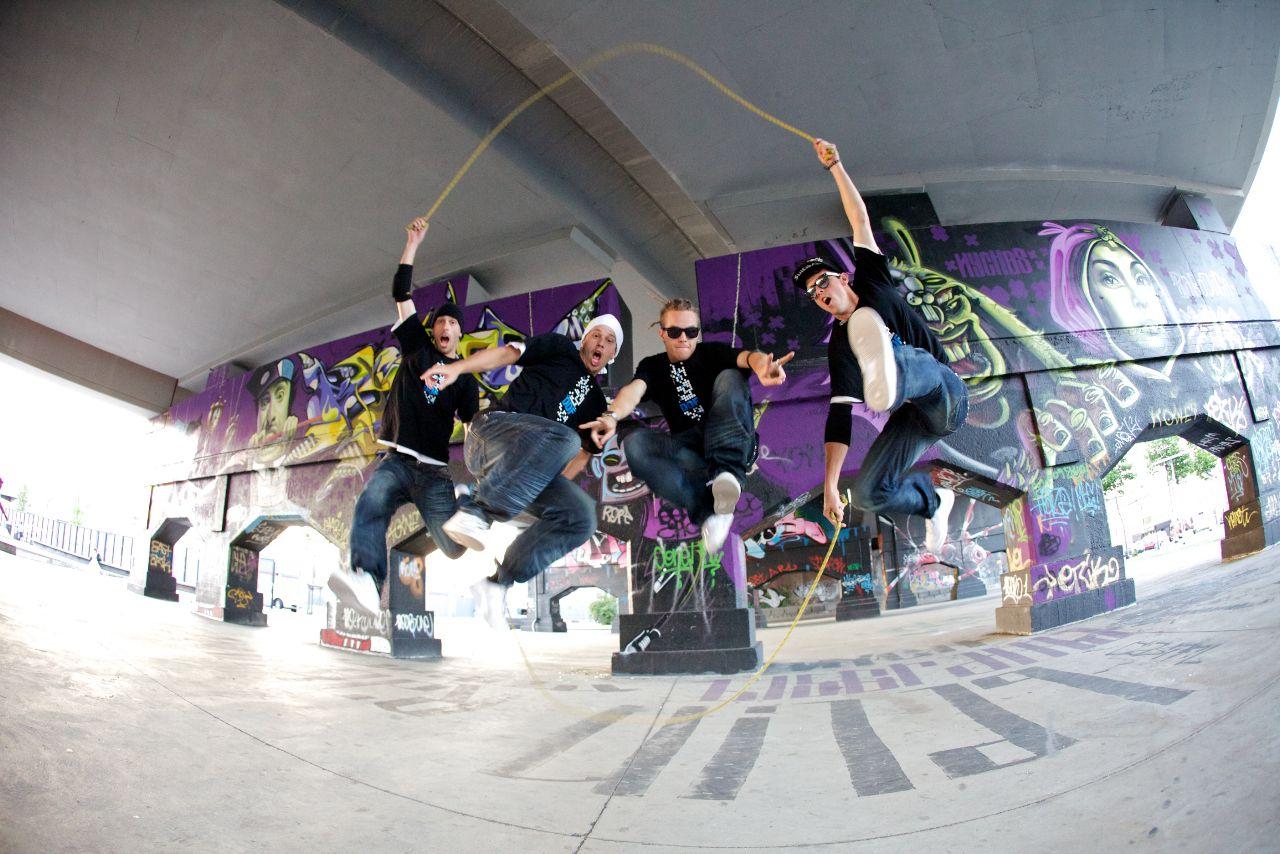 Double Dutch Urban street show Jump rope, Corporate
