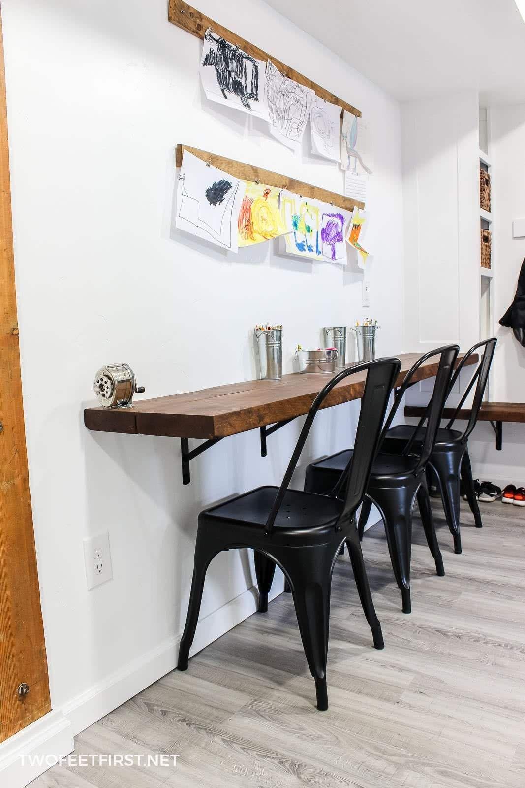 Desk + shelves Decor, Home office space, Home