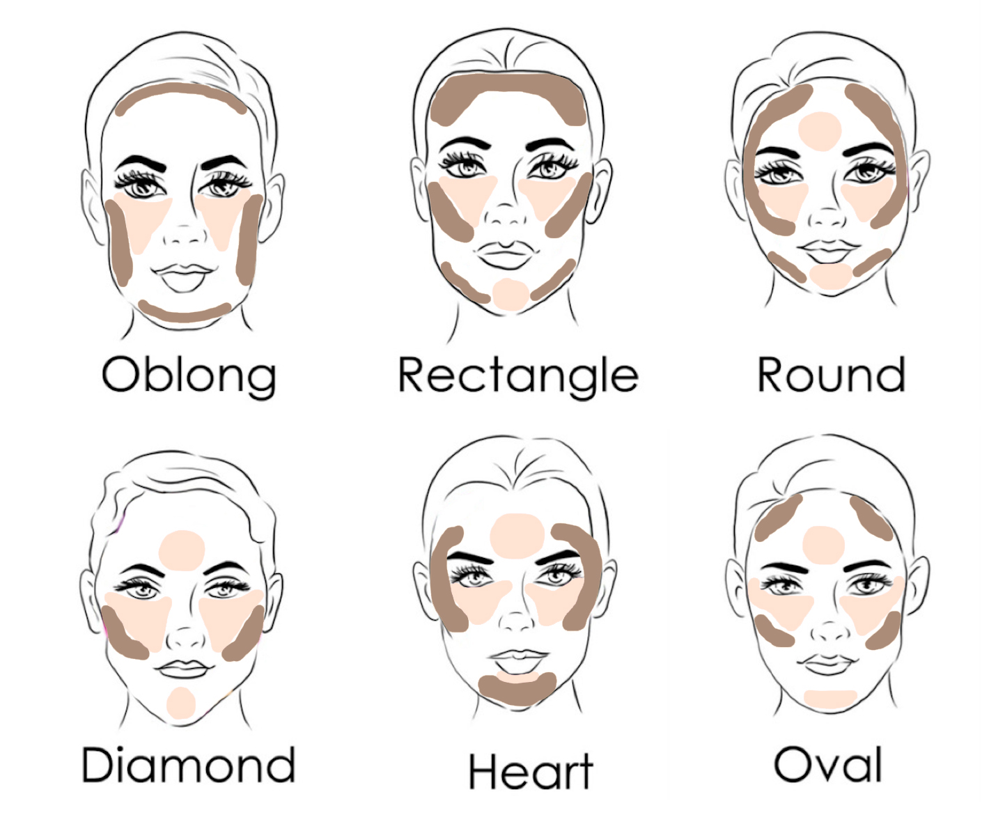 How to Contour and Highlight for Your Face Shape  Contour makeup