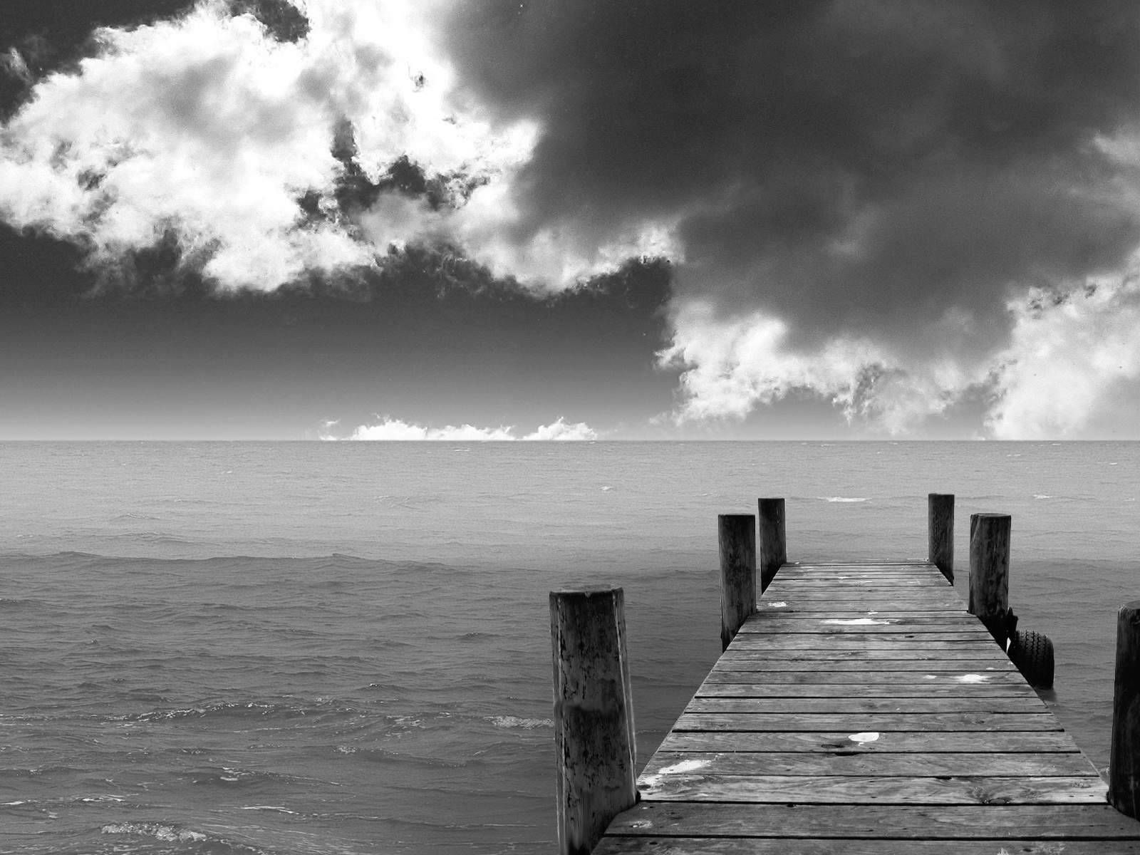Black And White Wallpapers Black And White Beach Landscape