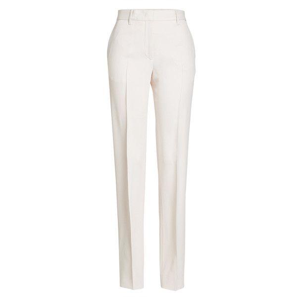high waist straight leg trousers - White Jil Sander B0ZuM4e