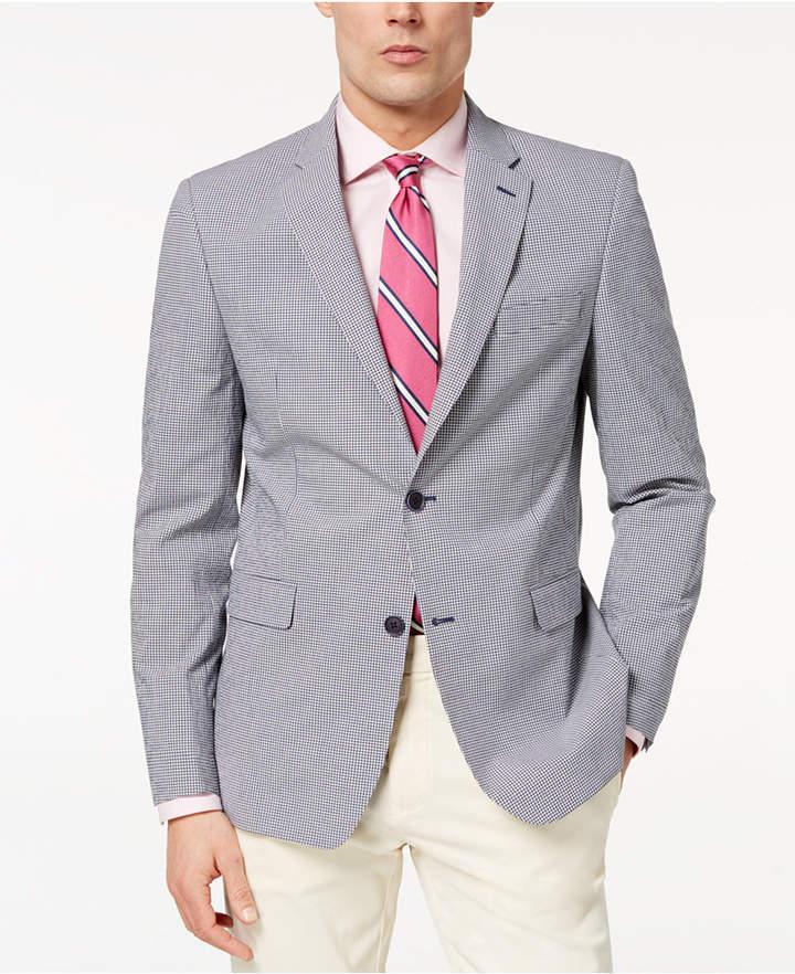 01a830b0b1fb Tommy Hilfiger Men's Modern-Fit Th Flex Stretch Blue/White Mini-Check Sport  Coat