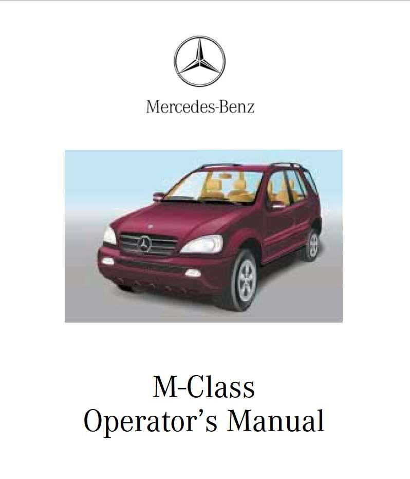 Mercedes-Benz M-Class 2002 Owner's Manual