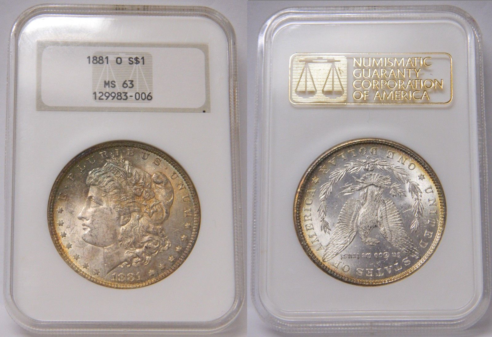 PCGS MS63 1881-O US Morgan Silver Dollar $1