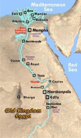 Egypt Old Kingdom Map Map of the Old Kingdom of Ancient Egypt | Ancient Egypt | Egypt