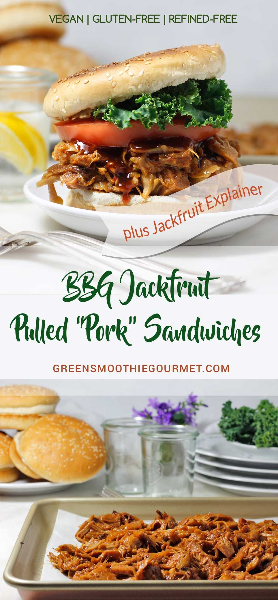Simple Skillet Bbg Jackfruit Pulled Pork Sandwiches Jackfruit Explainer