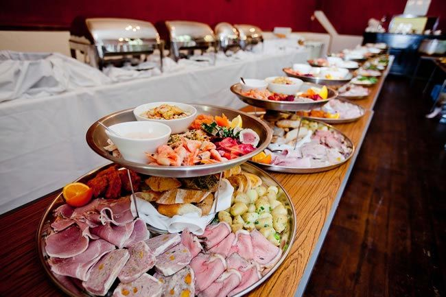 Unique wedding food and Food buffet