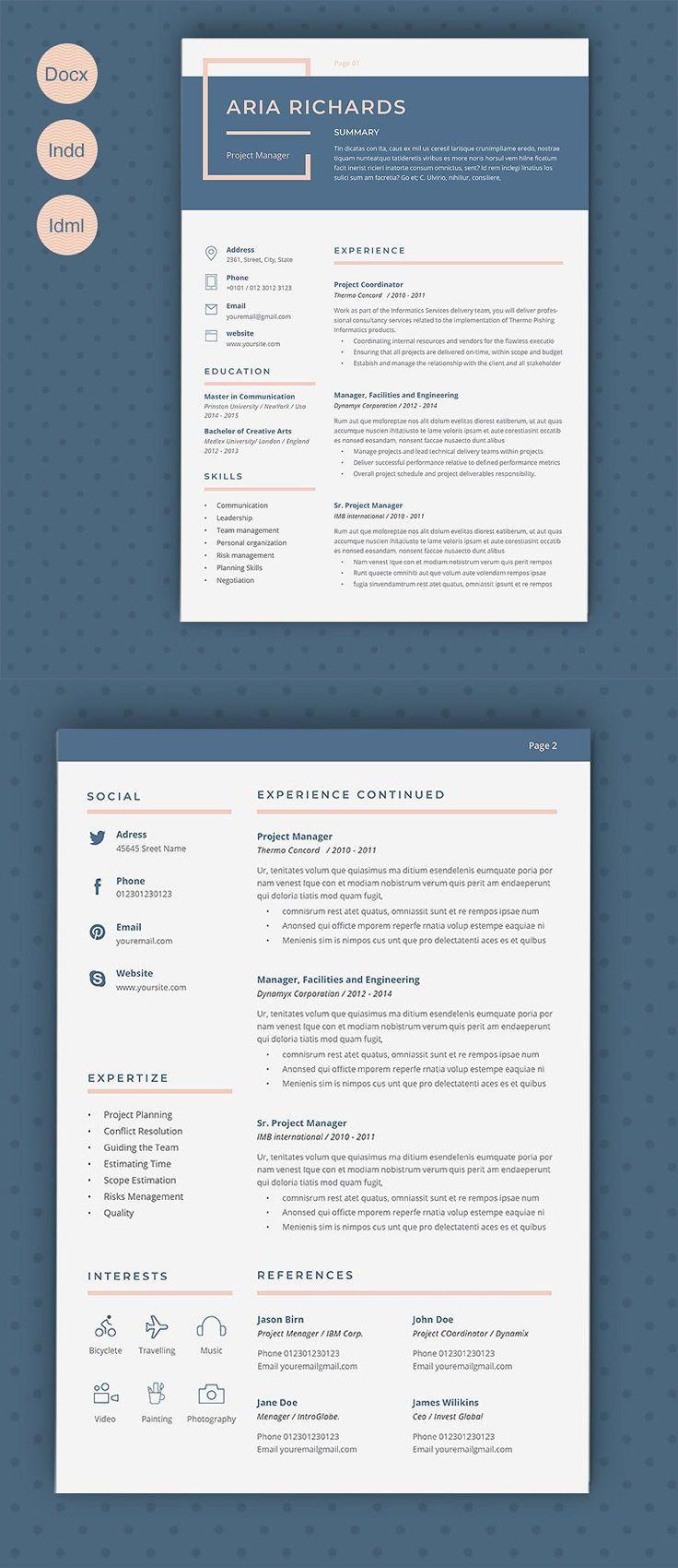 Resume Aria Cover letter for resume, Resume, Letter set