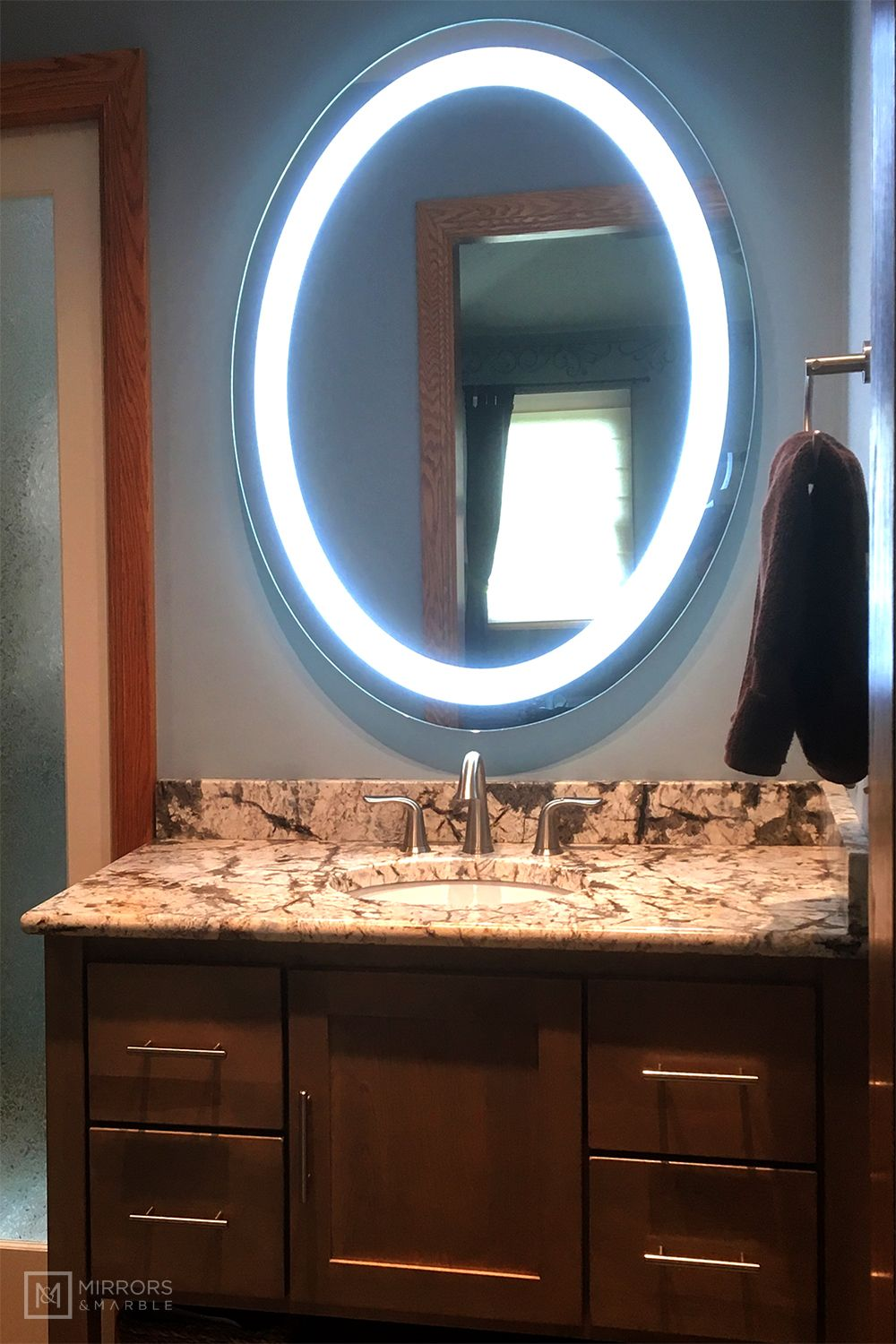 Front Lighted Led Bathroom Vanity Mirror 32 Wide X 40 Tall