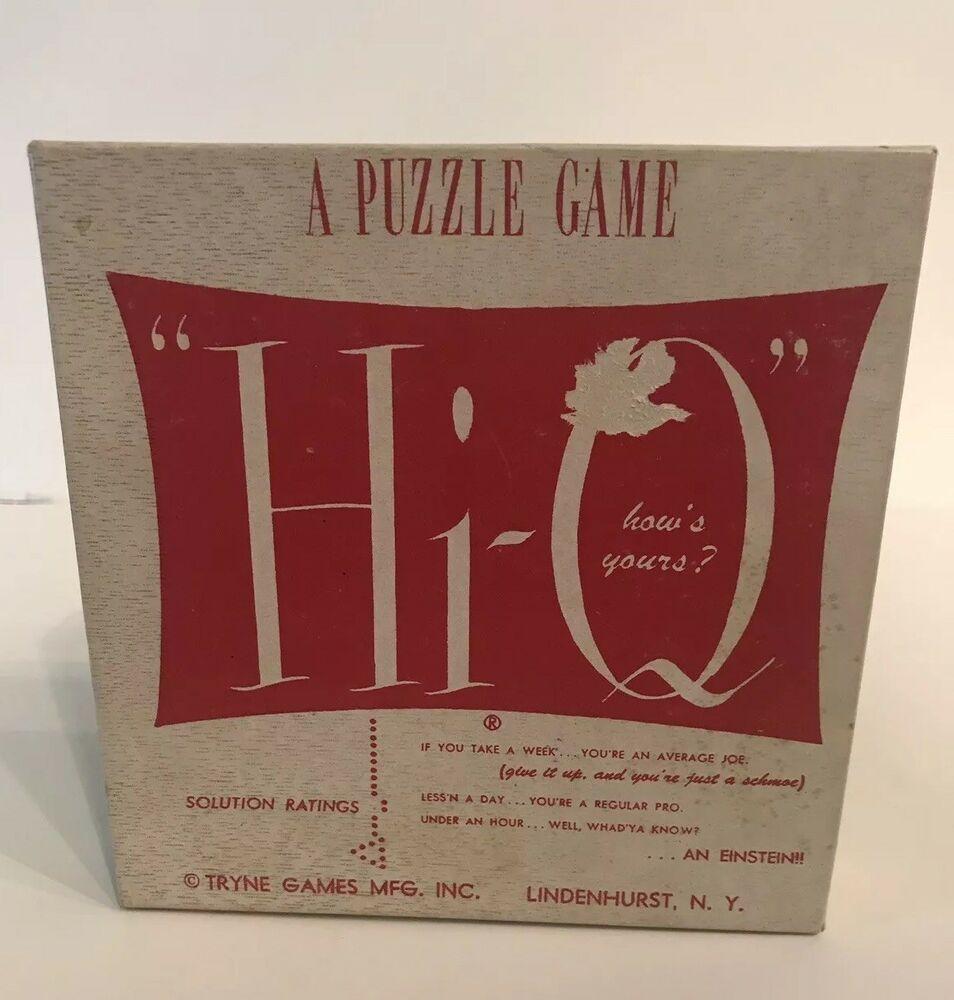 Vintage Hi Q Puzzle Game Used All Pieces Ebay Puzzle Board Games Puzzle Game Puzzle Board