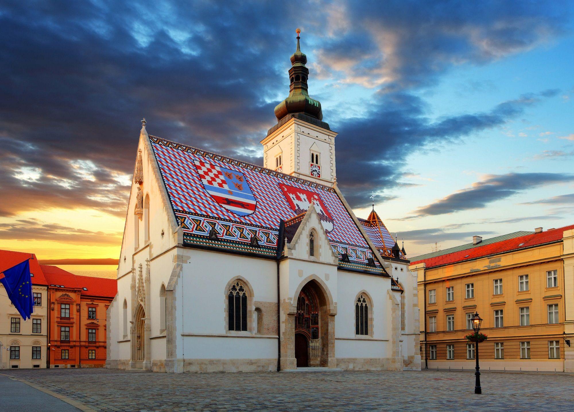 St Marks Church Zagreb Zagreb Croatia Travel Croatia