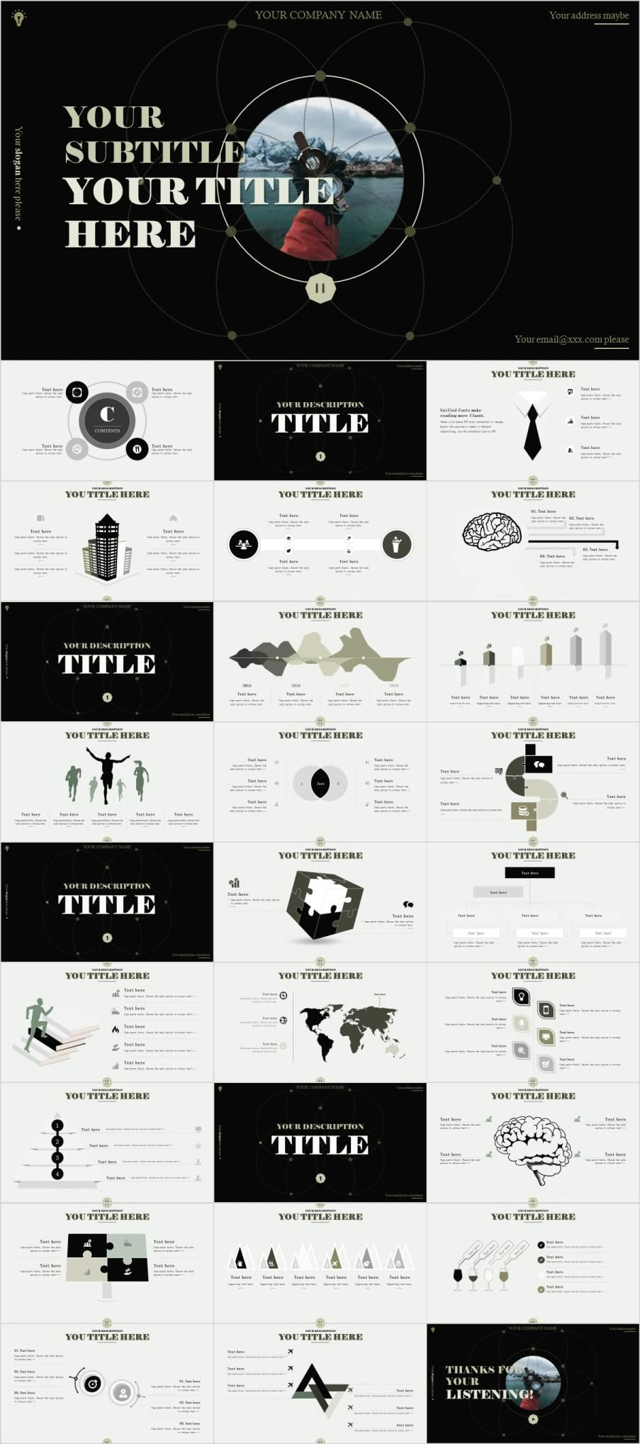 27 infographic company powerpoint template premium powerpoint