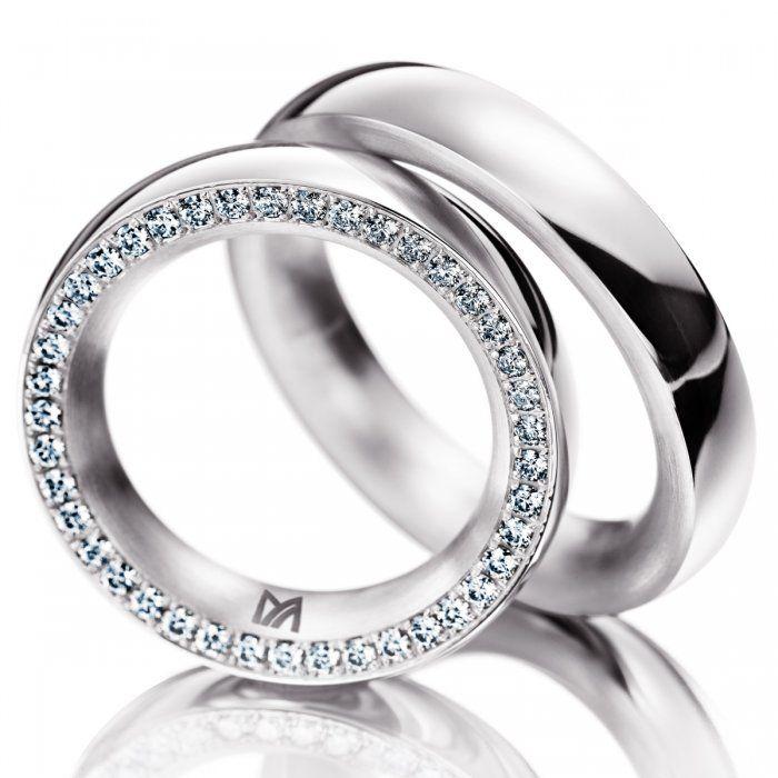 Meister, Classics, Wedding Rings, White Gold, Diamonds