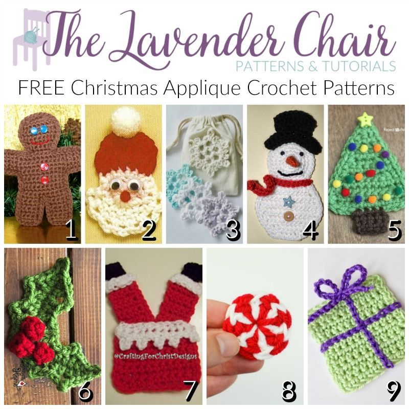 These crochet christmas applique patterns are going to make the ...