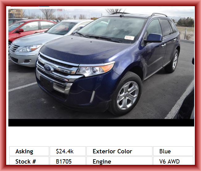 2011 Ford Edge Sel Suv Side Airbag Automatic Front Air Conditioning Mp3 Player Rear Seats Center Armrest Braking Assist 1st And 2nd Row Curtain Head Air Suv