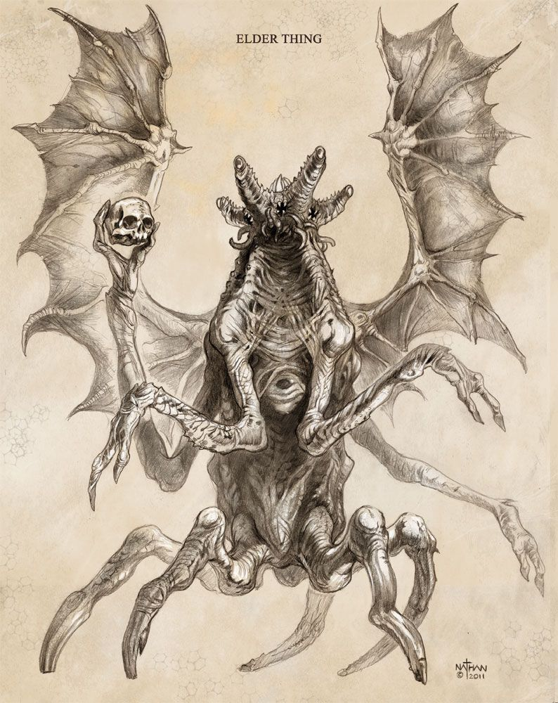 Antiguo antártico inquisitivo, por Nathan Rosario | Criaturas oscuras, Criaturas fantásticas, Los mitos de cthulhu