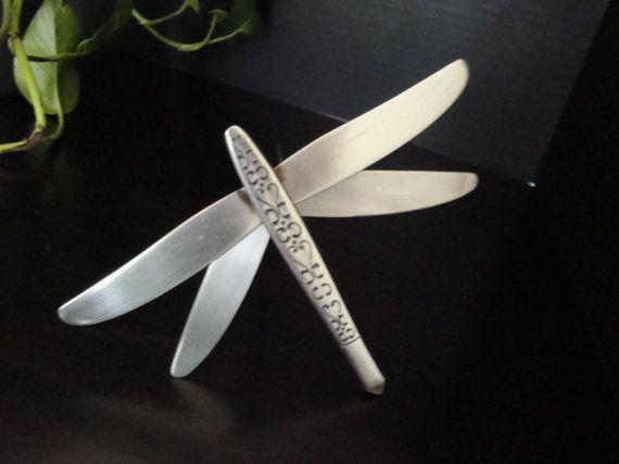 Recycled Silverware Dragonfly Stake By ElatiStudios On