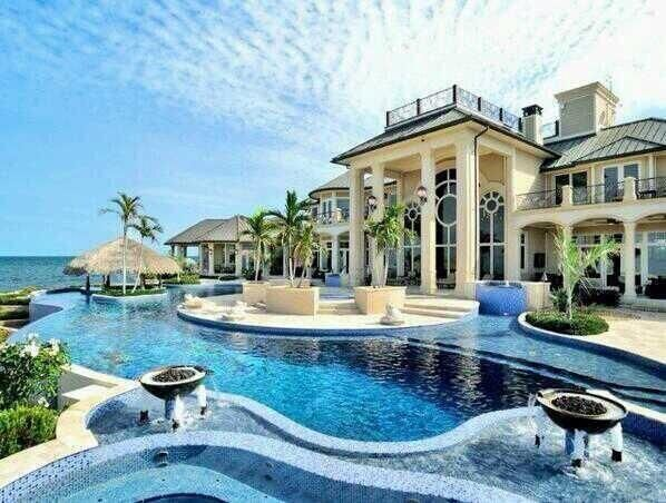 Big Beautiful Mansions With Pools seaside mansion with saltwater pool. | fancy living. | pinterest