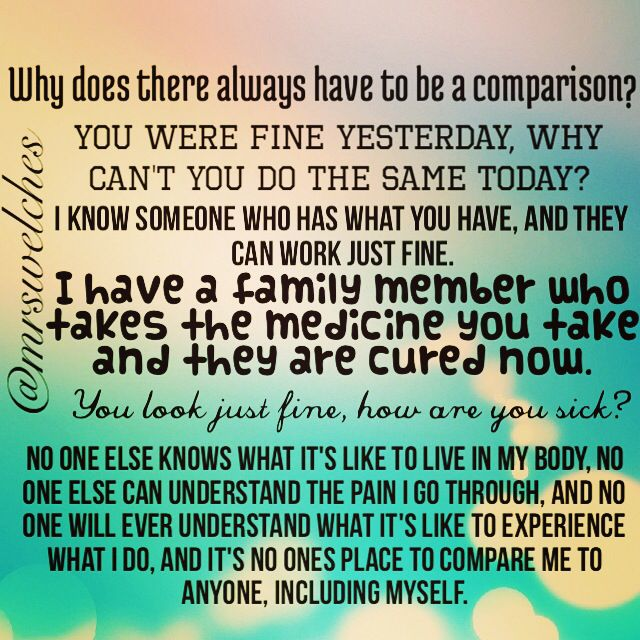 don't compare me to ANYONE.. Including MYSELF. Because YOU ...