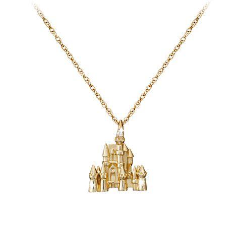 Disney Castle Necklace Diamond and 14K Gold Jewelry Disney