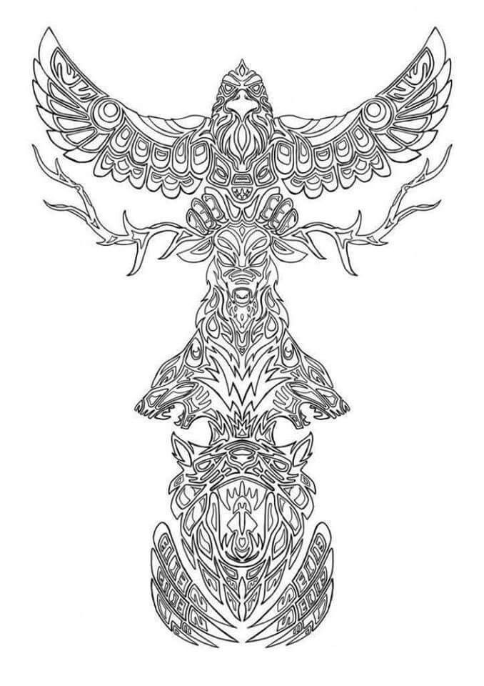Coloriage Animaux Totem.Pin By Sherelyn Nichol On Art Coloriage Coloriage Indien
