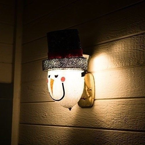 Outdoor Christmas Decorations Snowman Porch Light Cover Traditional Holiday New Worldwidema With Images Outdoor Christmas Decorations Porch Light Covers Outdoor Christmas