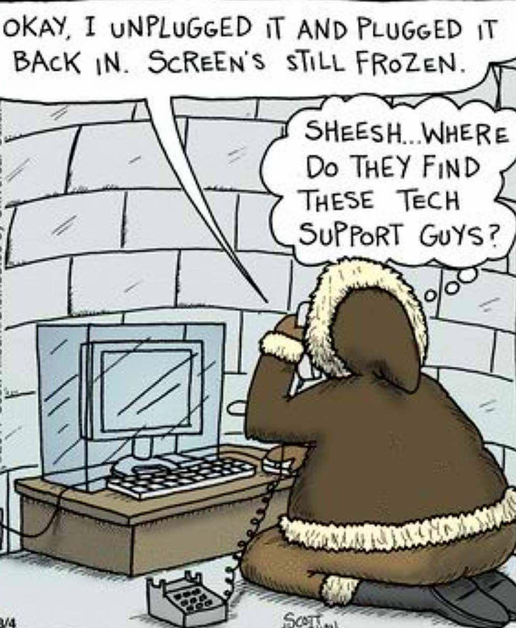 Igloo, Eskimo humor. Computer humor, Computer jokes