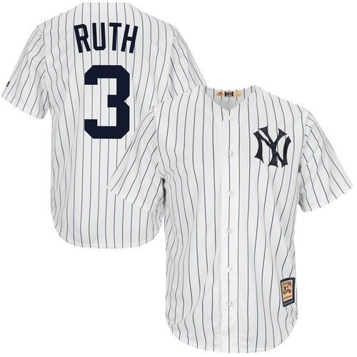 1c28782e Babe Ruth New York Yankees Majestic Cool Base Cooperstown Collection Player  Jersey - White, Size