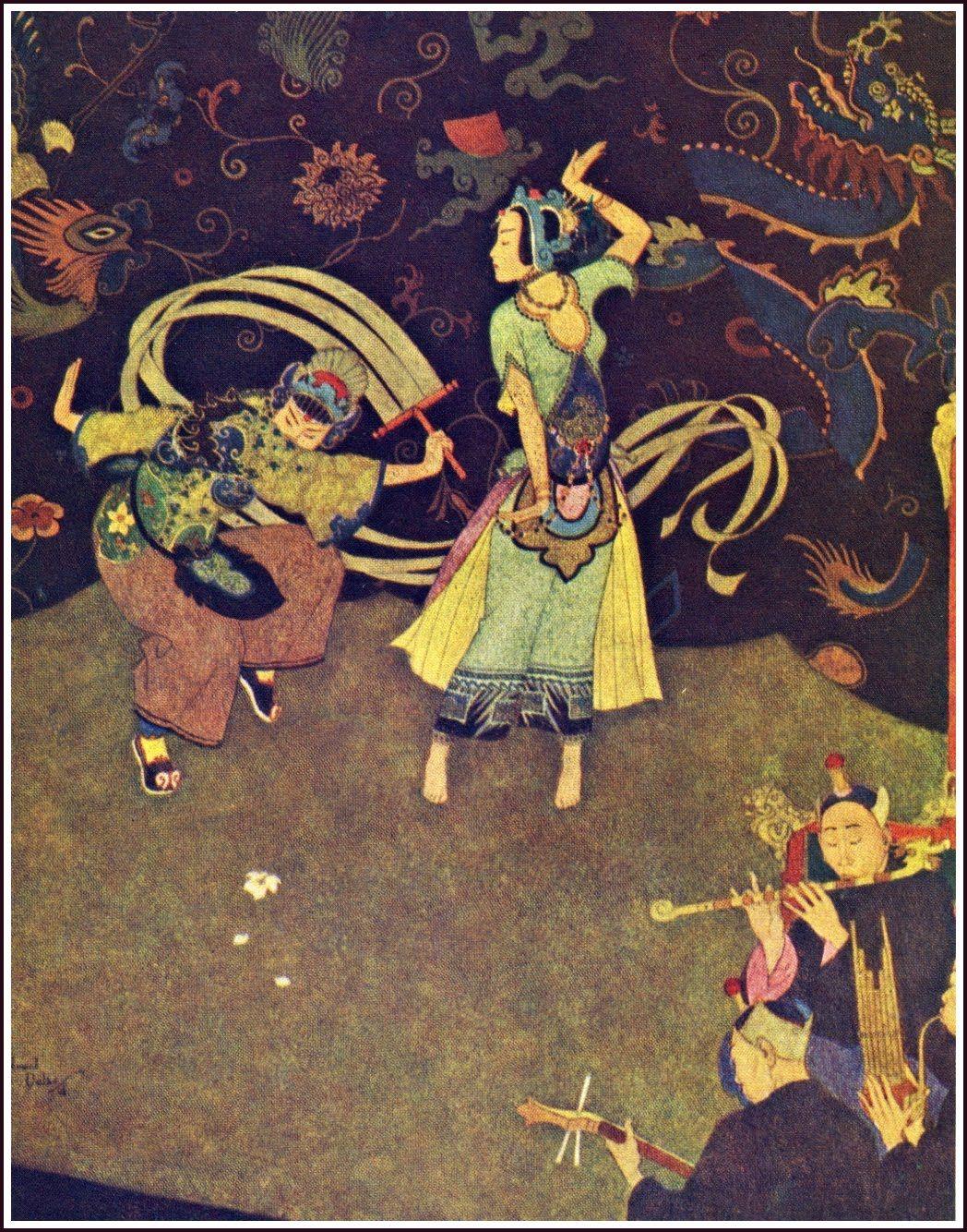 13 Arabiannights Dulac Alladin Nuptialdance Jpg Image Edmund Dulac Arabian Nights Sinbad The Sailor