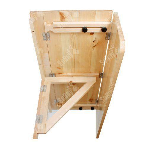 SoBuy® Mesa de cocina, mesa de madera, mesa plegable de pared, mesa ...