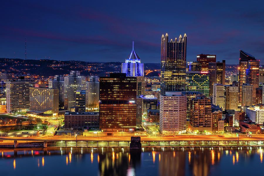 Pittsburgh Skyline Photograph - The Hearts of Pittsburgh  by Emmanuel Panagiotakis