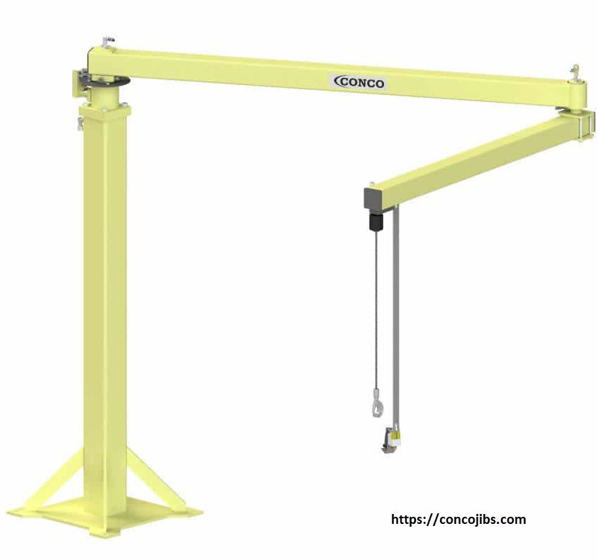 Cost Effective Ergonomic Articulated Jib Arm Line Conco Jibs Material Handling Manufacturing Design