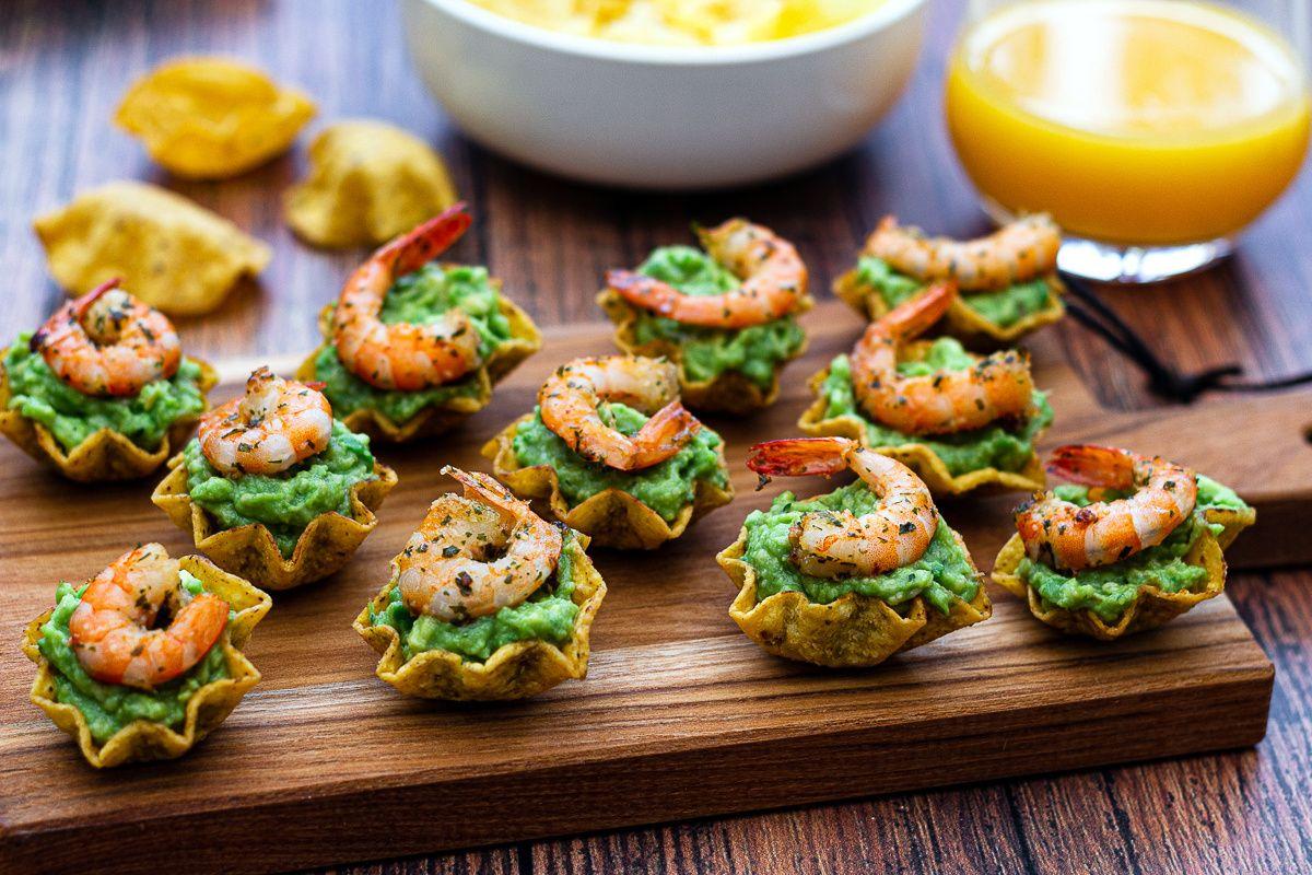 Bouchées apéritives au guacamole et crevettes - Amandine Cooking