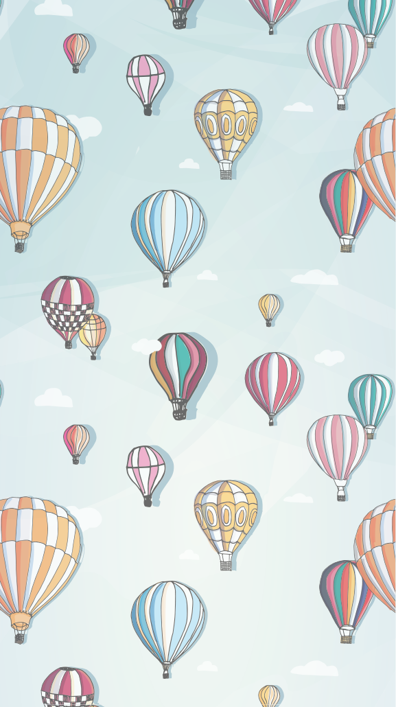 Hello April Balloon Home Screen Wallpaper PanPins