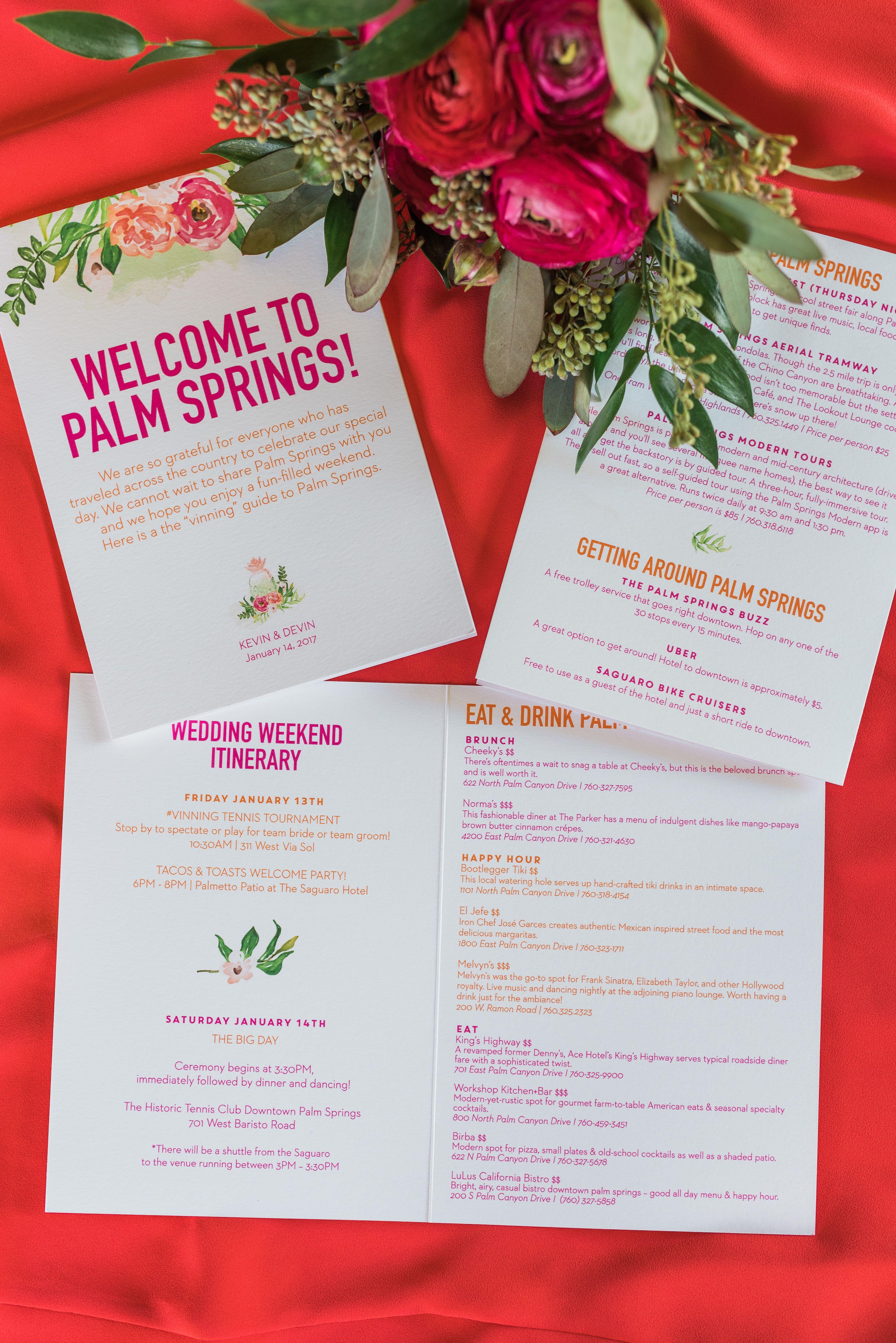 Vibrant + Bright Palm Springs Wedding | High school sweethearts ...