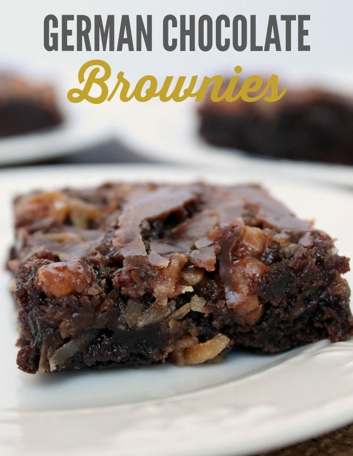 Photo of German Chocolate Brownies | Best Brownie Recipe |