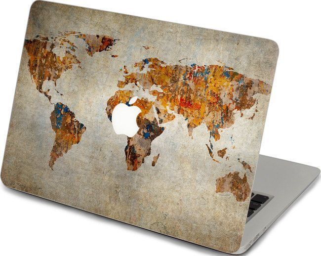 World map apple macbook air decal skin top cover front keyboard macbook decal sticker mac pro 15 front decal cover by mixeddecal gumiabroncs Gallery