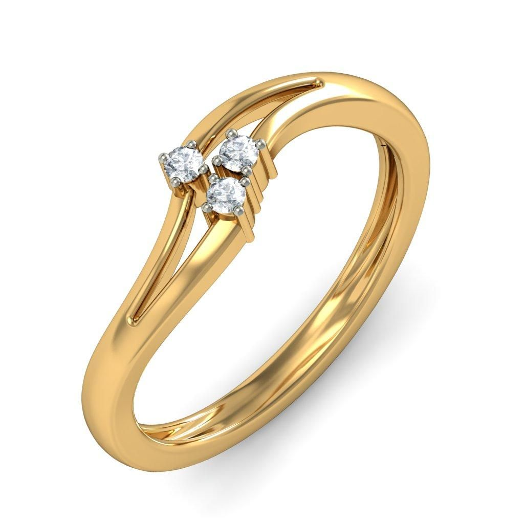 Simple and beautiful gold Diamond Rings that complete your ...