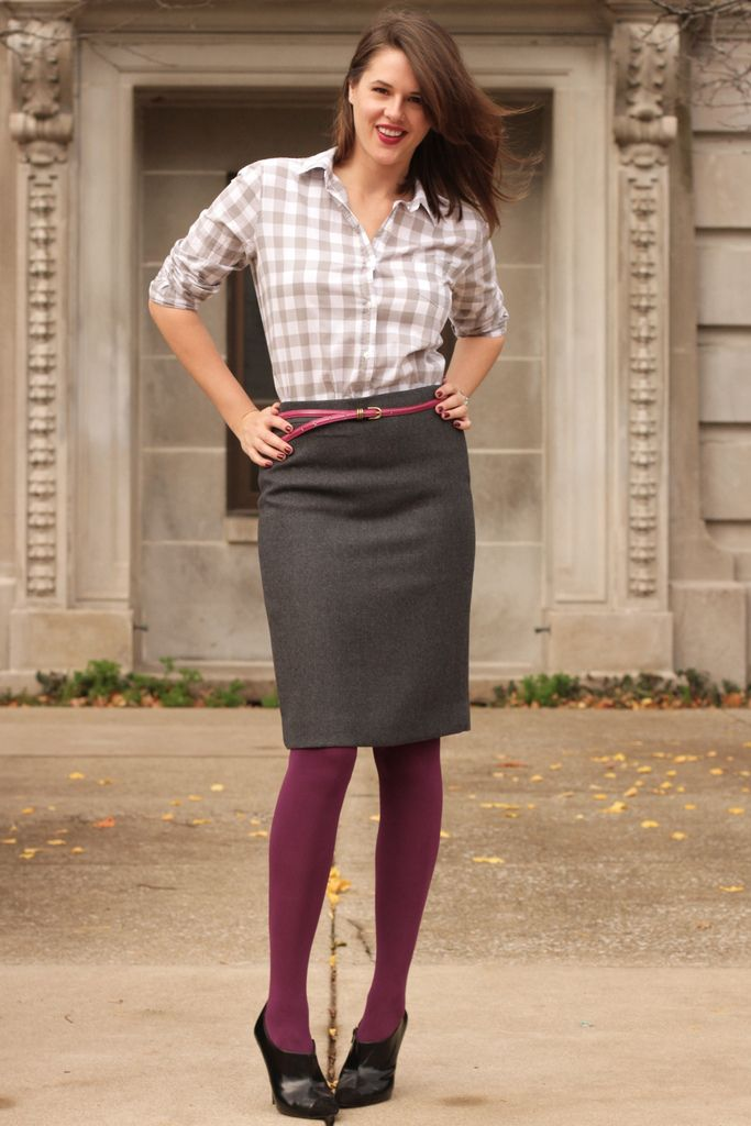 Love this look! | Work wear | Pinterest | Grey, Gray skirt and Skirts