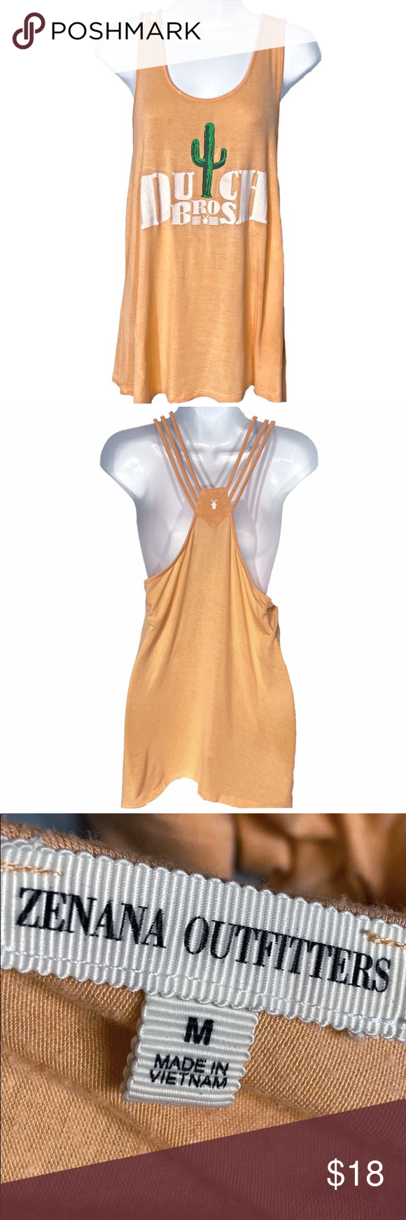 Dutch Bros M Orange Racerback Rayon/Spandex Tank Super Cute Dutch Bros (Can be Worn Tied or Down) Cactus Design Women's Sz Medium Racer Back Tank Top Shirt. 95% Rayon 5% Spandex Dutch Bros Tops Tank Tops #dutchbros Dutch Bros M Orange Racerback Rayon/Spandex Tank Super Cute Dutch Bros (Can be Worn Tied or Down) Cactus Design Women's Sz Medium Racer Back Tank Top Shirt. 95% Rayon 5% Spandex Dutch Bros Tops Tank Tops #dutchbros