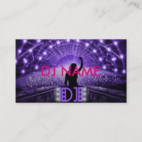 Women DJ business card