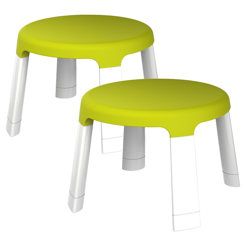 Amazing Oribel Portaplay Child Stools Pack Of 2 Green Best Onthecornerstone Fun Painted Chair Ideas Images Onthecornerstoneorg