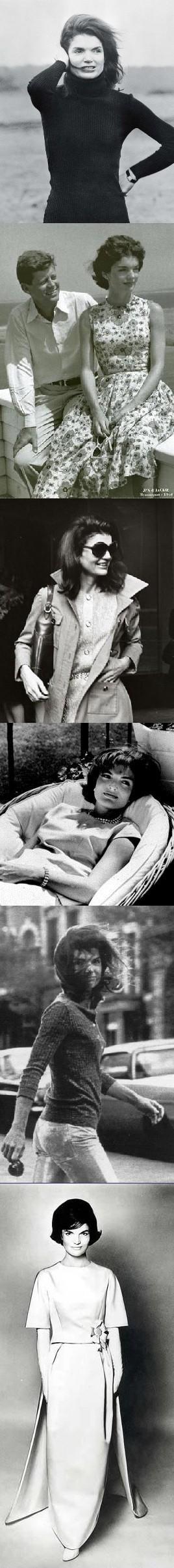 Jackie Kennedy Onassis, style icon.