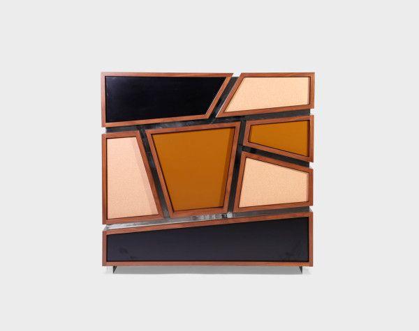 Vence dresser modern Portuguese Furniture  oblique drawers angled lines mix of woods