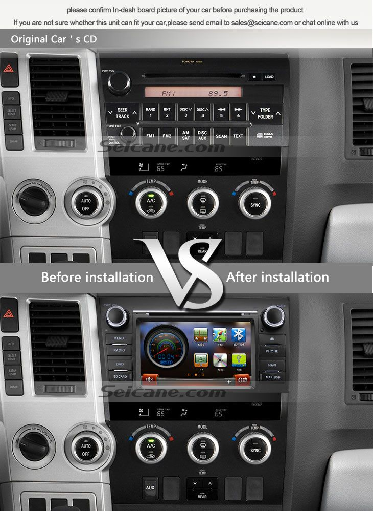 Oem 20072011 Toyota Sequoia Tundra Aftermarket Car Stereo Rhpinterest: 2007 Toyota Tundra Radio Upgrade At Elf-jo.com