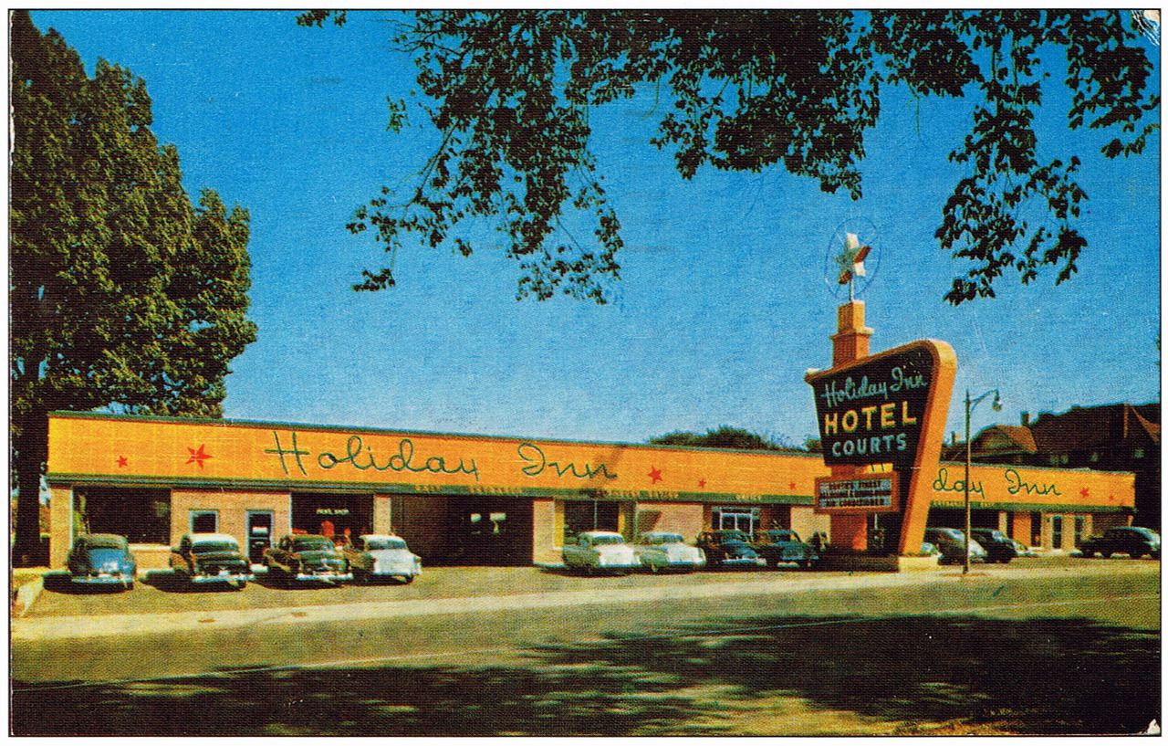 Circa Early 1950' Golden Age Of Holiday Inn Motel