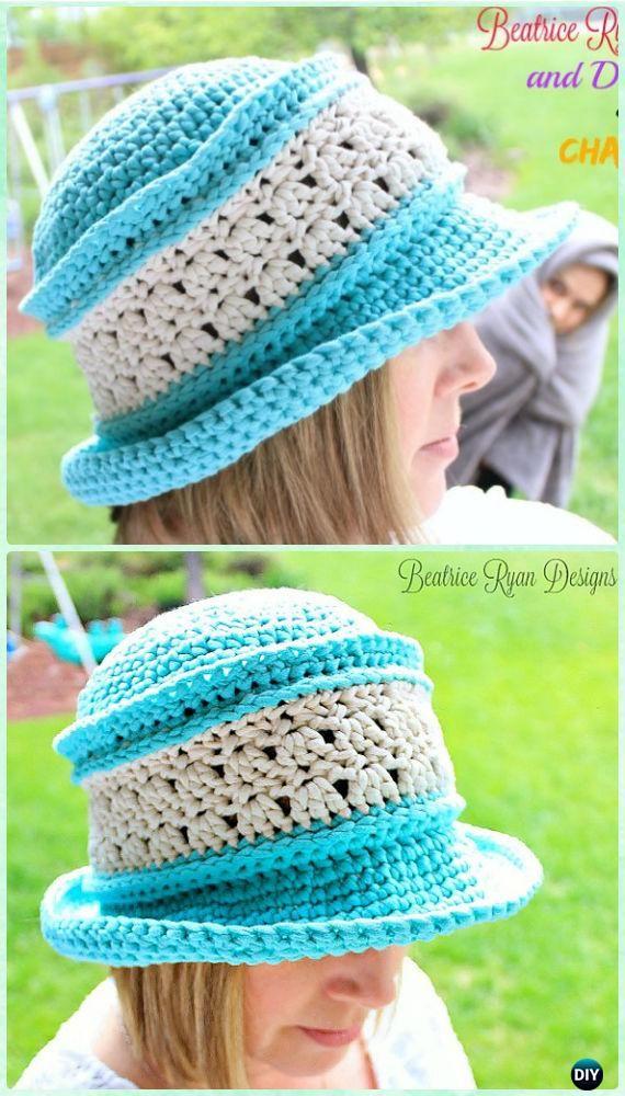 Ganchillo mujeres gracia felicidad verano sombrero patrón libre ...
